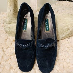 🌞[COLE HAAN] Black Suede Loafers EUC 9.5